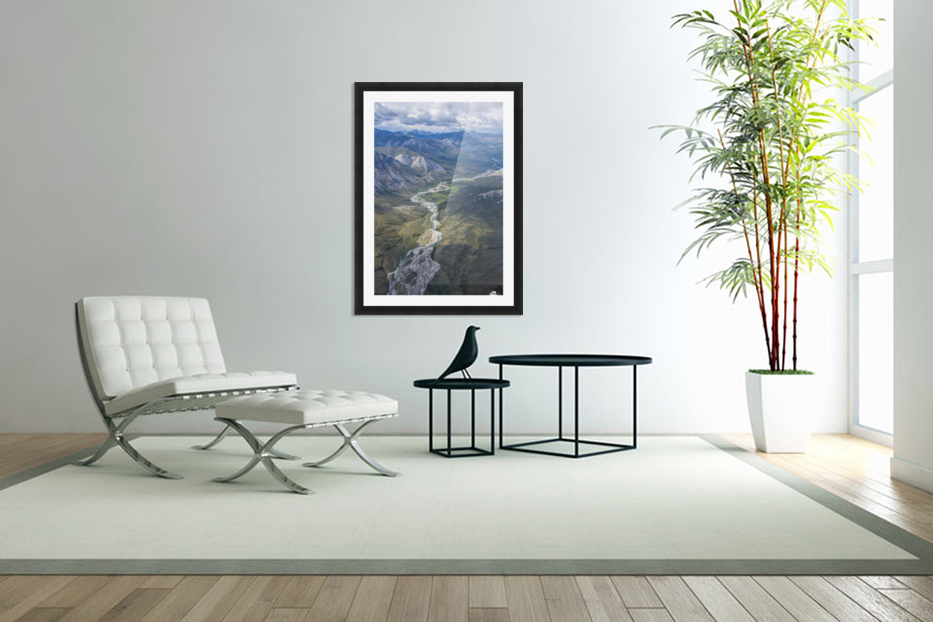 Aerial View of the Brooks Range in summer, ANWR, Alaska in Custom Picture Frame