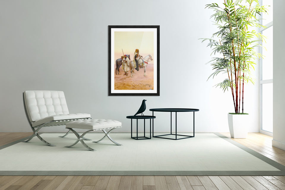 A rest in the desert in Custom Picture Frame
