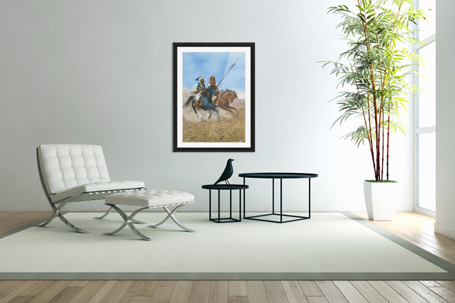 Arab riders in Custom Picture Frame