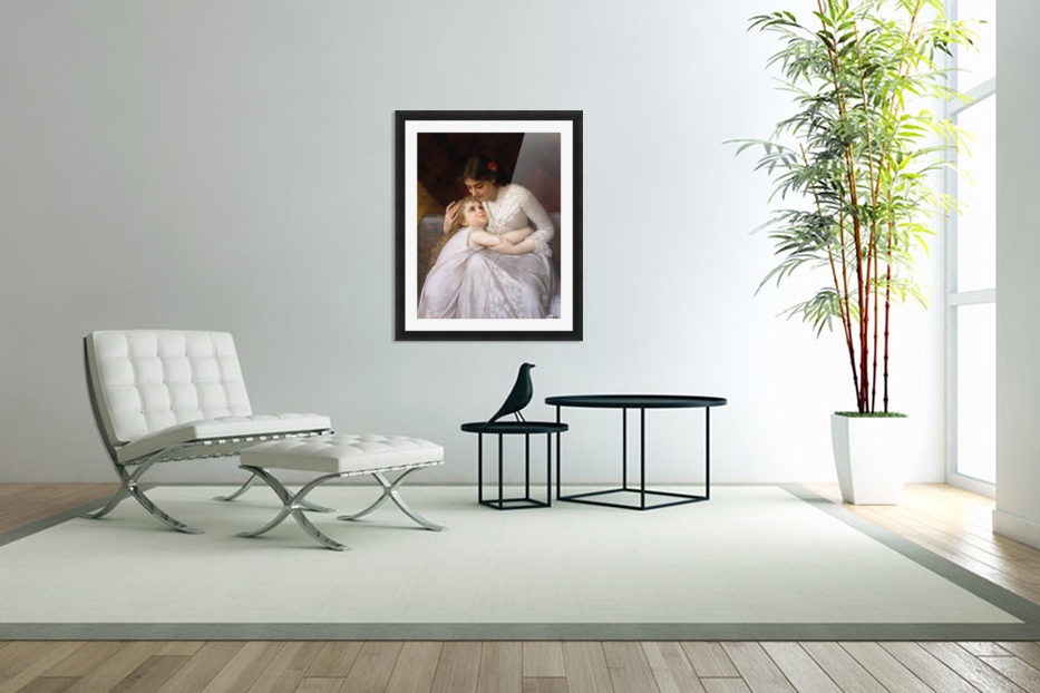 Mother and child in Custom Picture Frame