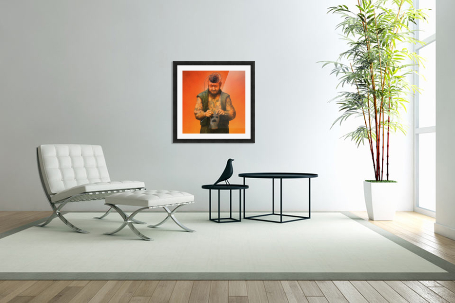 Black Mind in Custom Picture Frame