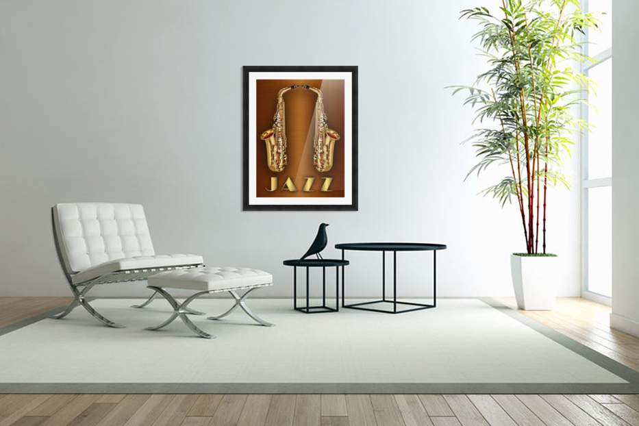 Gold jazz  in Custom Picture Frame