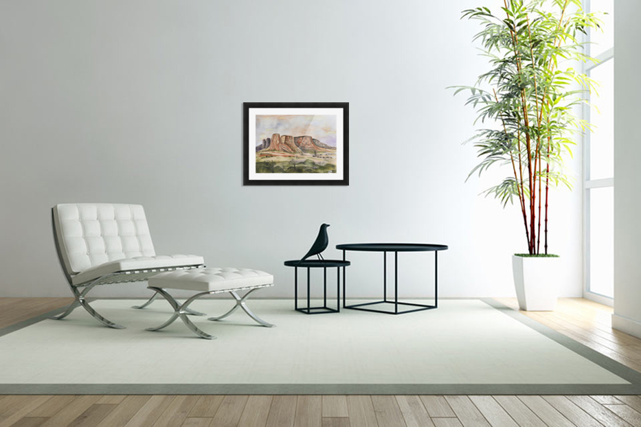 Buttes of Sedona  in Custom Picture Frame