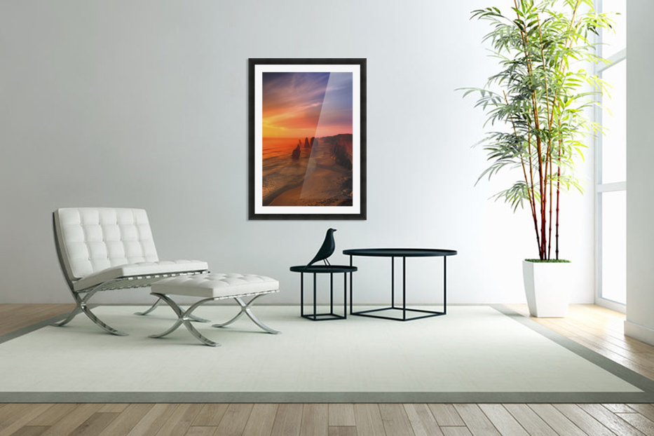 Sunset And Rock Formations in Custom Picture Frame