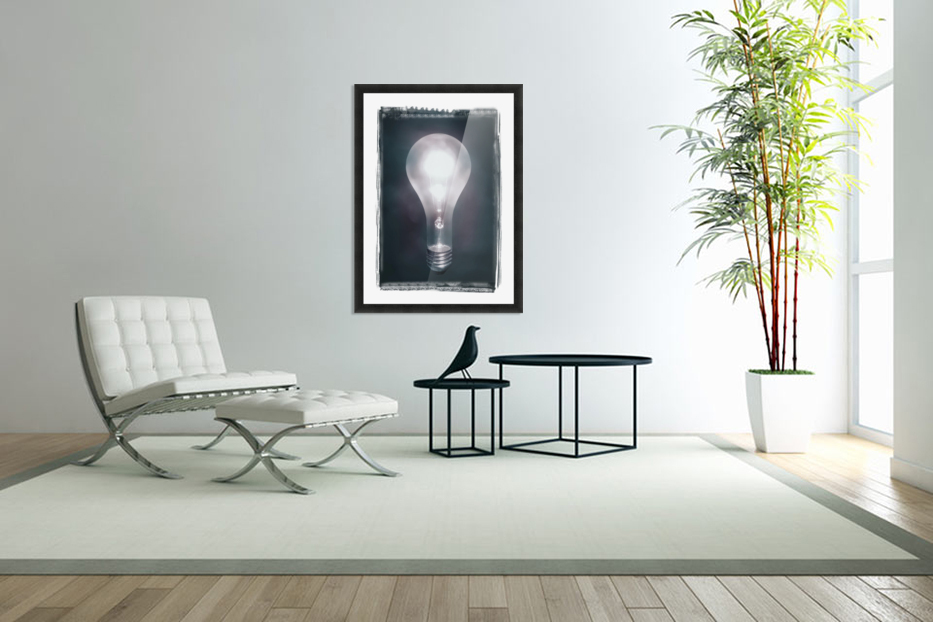 Light Bulb in Custom Picture Frame