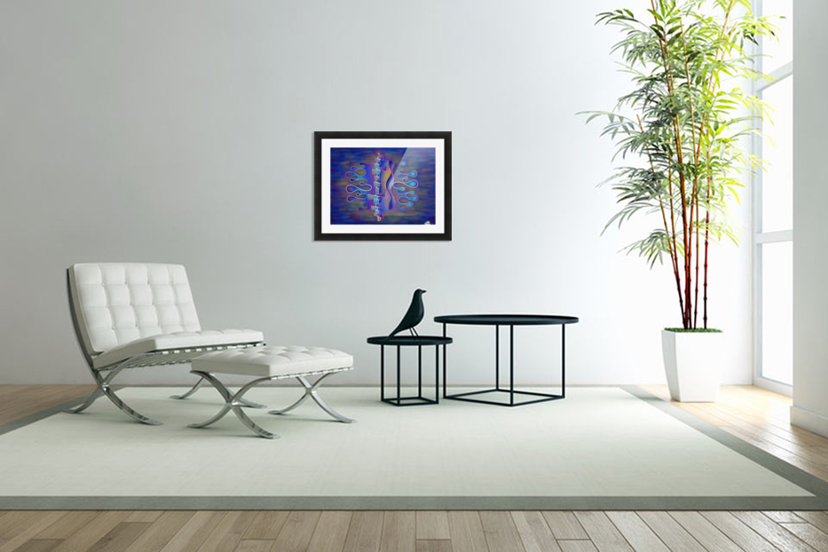 Grafenonci V5 - abstract butterfly in Custom Picture Frame