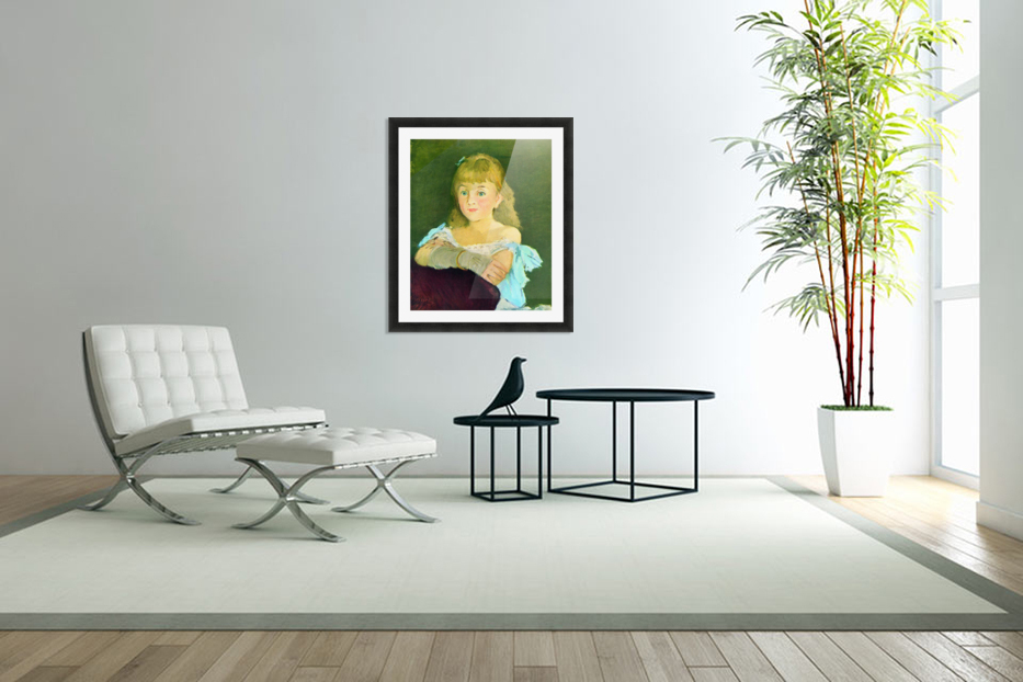 Portrait of Lina Campineanu by Manet in Custom Picture Frame