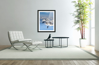 Climber Leaning Into High Winds On Northwest Ridge Of Mount Iliamna Above Tongue Glacier And Chigmit Mountains, Spring, Southcentral Alaska  Acrylic Print