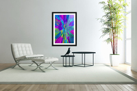 Shattered Glass - Radial Blue  Acrylic Print