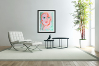 Girl and Circles  Acrylic Print