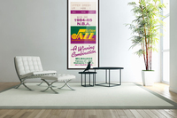 1984 utah jazz milwaukee bucks salt palace arena ticket art  Acrylic Print
