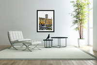 Boats in Front of Clock Tower St Katharine Docks  Acrylic Print