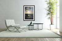 Softly Came the Night Over the Pacific  Acrylic Print
