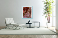Ribbon candy and the  chocolate fountain   Acrylic Print