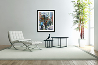 DOWNTOWN MONTREAL WINTER SCENE SHOPPERS ON ST. CATHERINE STREET  Acrylic Print