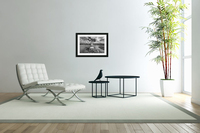 Chair in pool of water - B&W version  Acrylic Print