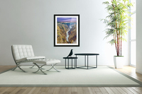Grand Canyon of Yellowstone - The Falls and River in the Fading Light of Day  Yellowstone National Park at Sunset  Acrylic Print