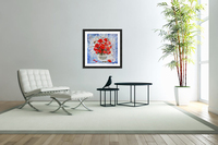 Morning Red Poppies original palette knife painting  Acrylic Print