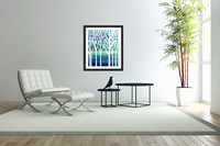 Blue Teal Forest   Acrylic Print