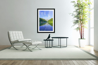 Blue Skies over the Riessersee in the Bavarian Alps near Garmisch Germany  Acrylic Print