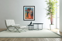 Woman in the blue dress  Acrylic Print
