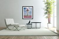 Jesus on the Cross Illustration  Acrylic Print