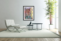 Self Portrait in Paris (behind plants) by Walter Gramatte  Acrylic Print