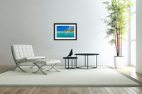 Tropical island background  Acrylic Print