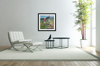We Paint with Wine- Plein Air in the Vineyard  Acrylic Print