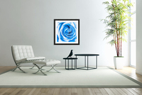 closeup blue rose texture abstract background  Acrylic Print