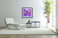 pink brown purple blue painting abstract background  Acrylic Print