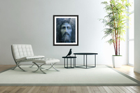 Christ face reconstruction blue  Acrylic Print