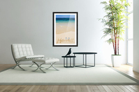 USA, Hawaii, Ocean in background; Kailua, Flipflops and Hawaii written in sand  Acrylic Print
