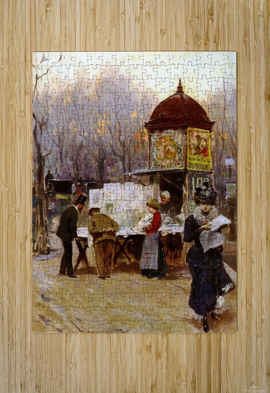 Paris, 1899  Impression métal HD avec cadre flottant sur le dos