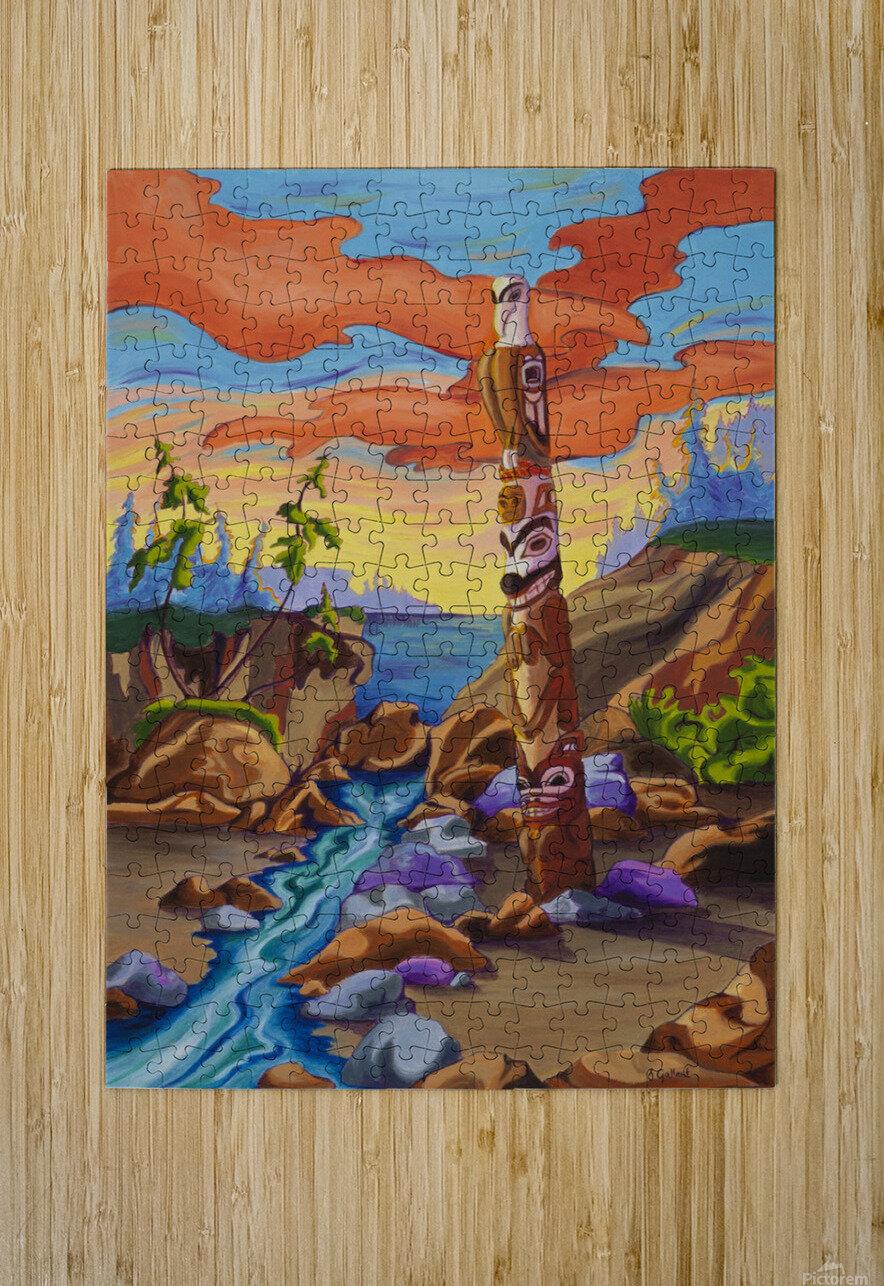 Haida Totem  HD Metal print with Floating Frame on Back