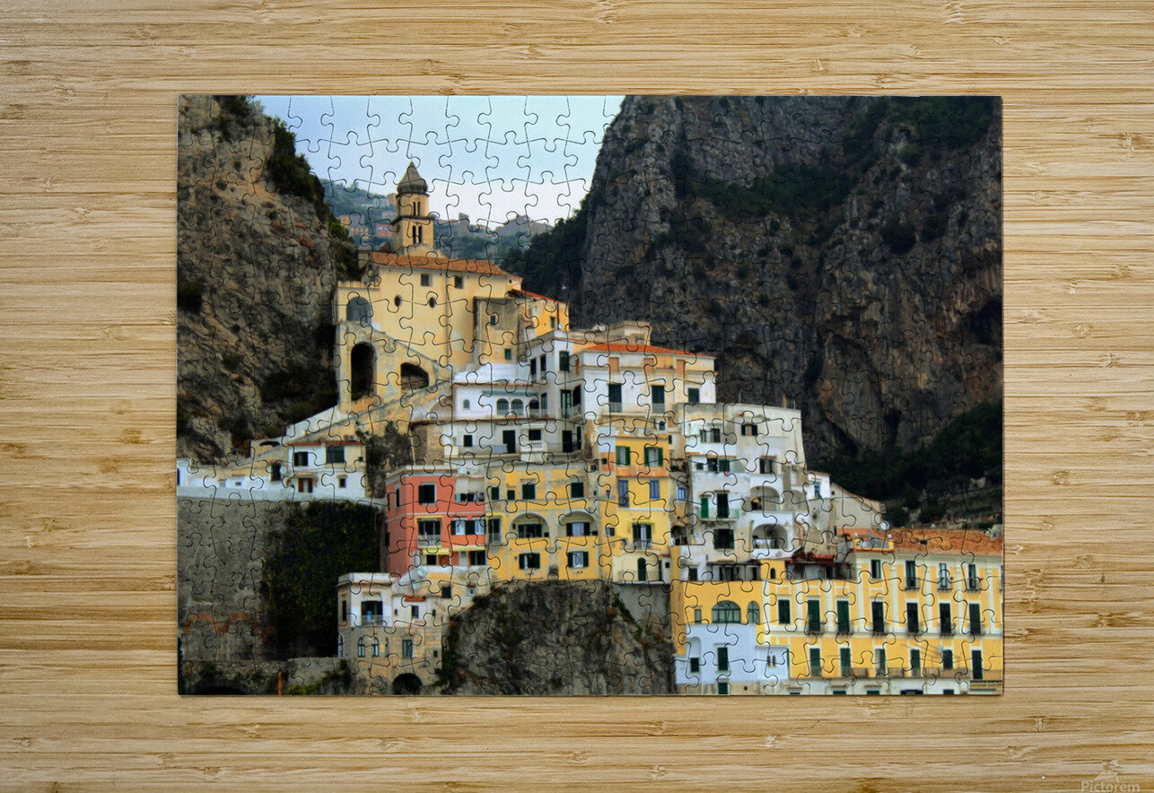 Amalfi  Old Town - Italy  HD Metal print with Floating Frame on Back