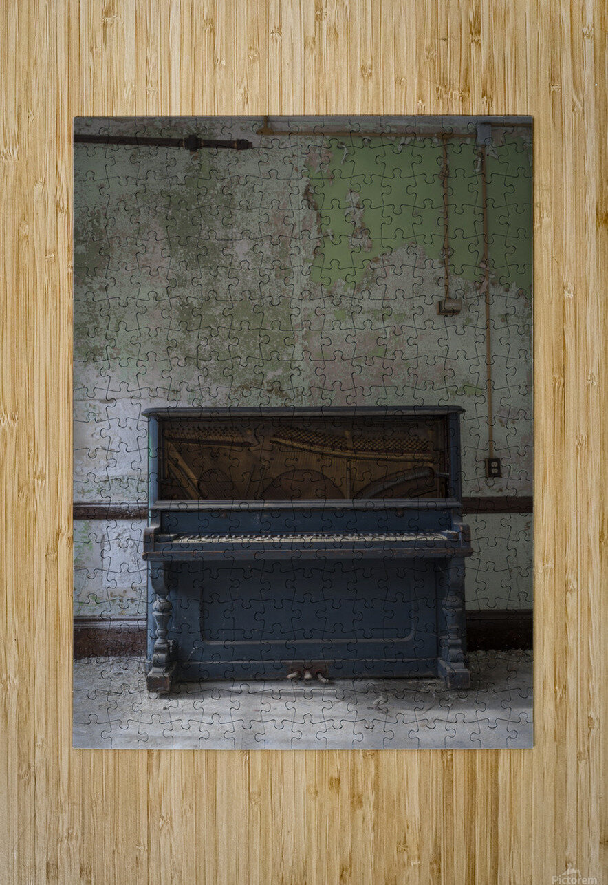 Abandoned Piano  HD Metal print with Floating Frame on Back