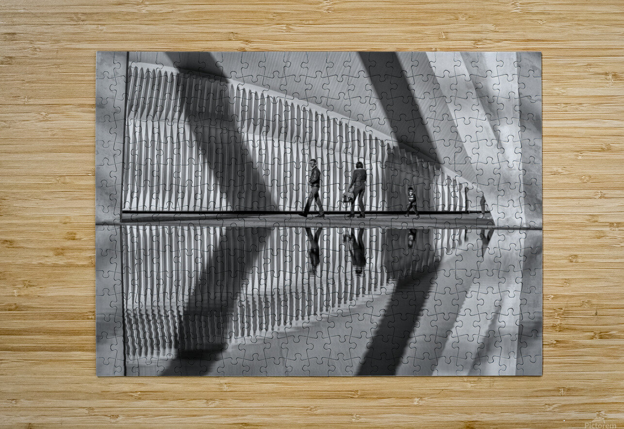 Valencia shadows  HD Metal print with Floating Frame on Back