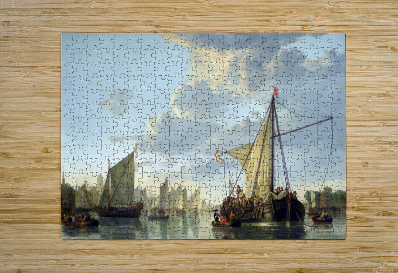 Aelbert Cuyp  HD Metal print with Floating Frame on Back