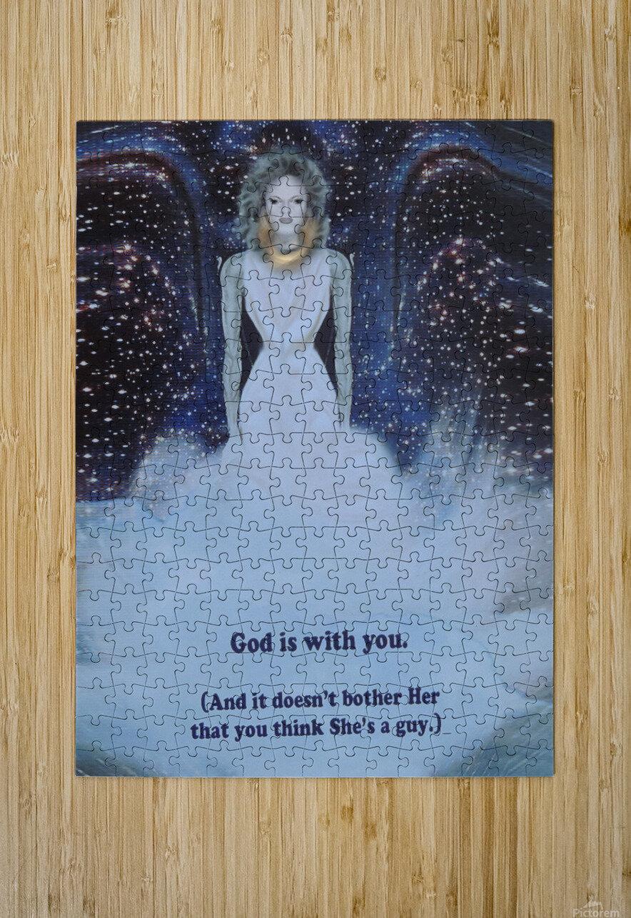 God Is With You1  Impression métal HD avec cadre flottant sur le dos