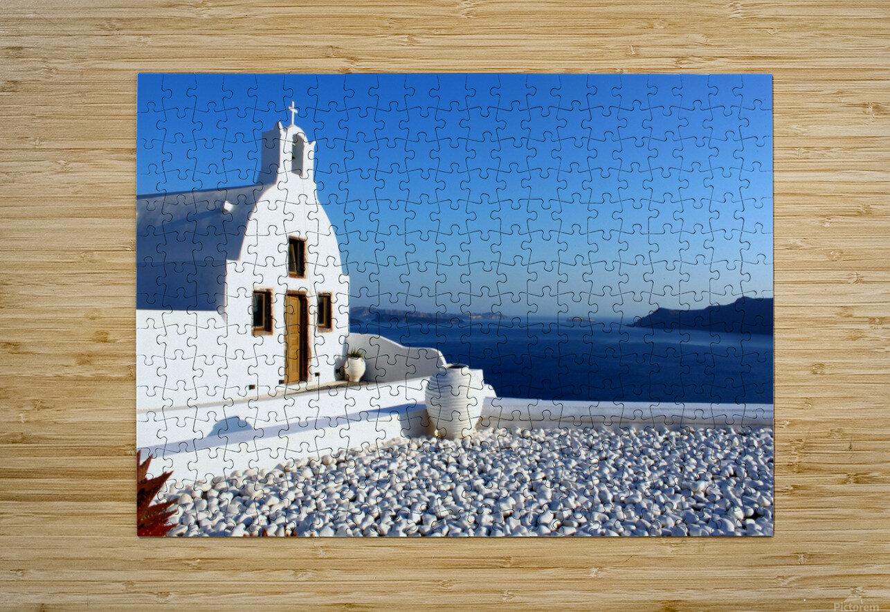 S A N T O R I N I - Greece  HD Metal print with Floating Frame on Back