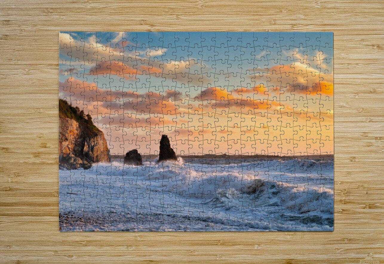 Tangerine Skies  HD Metal print with Floating Frame on Back
