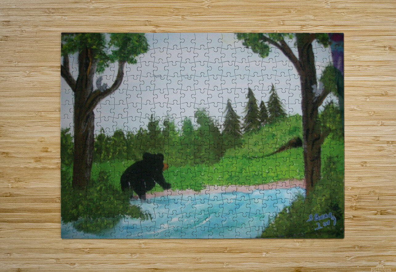 Bear territory   HD Metal print with Floating Frame on Back