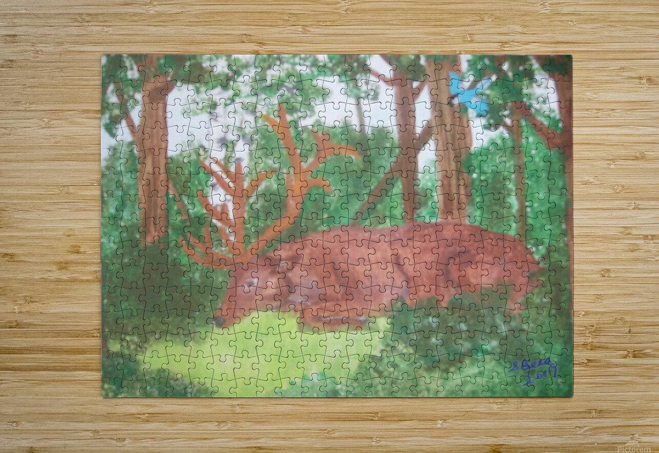 Maine Elk  HD Metal print with Floating Frame on Back