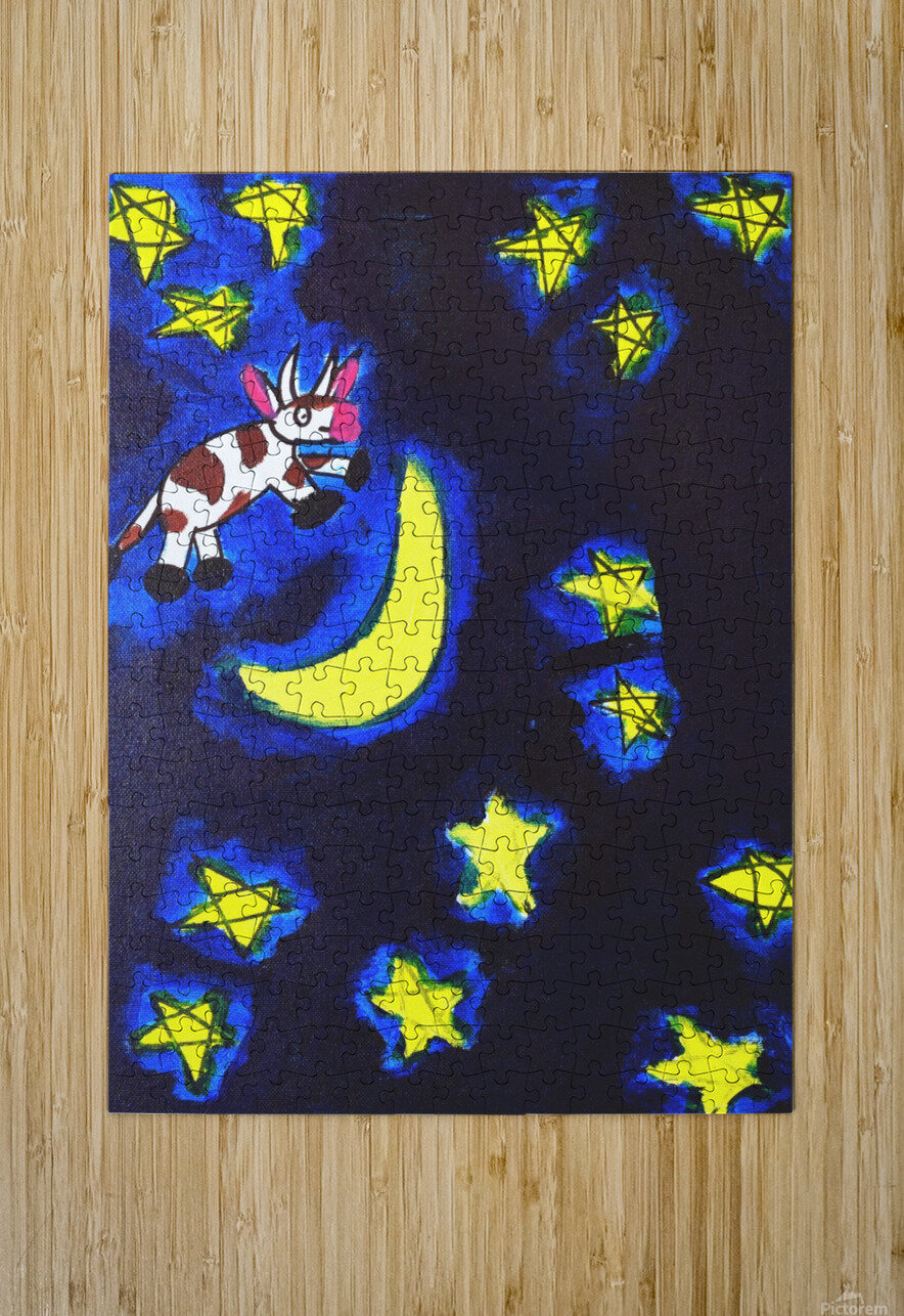 Cow Jumped over the Moon. Dominic H  HD Metal print with Floating Frame on Back