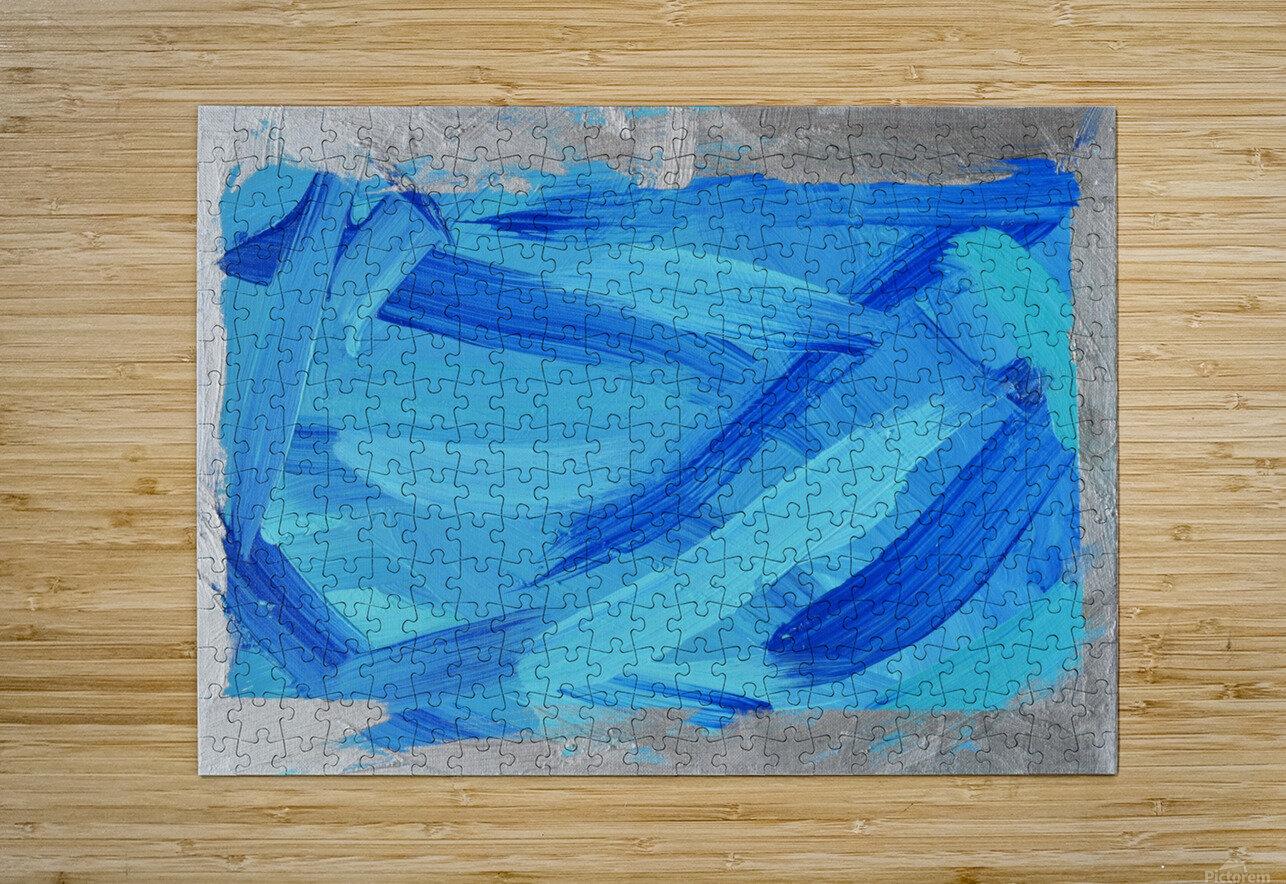 Blue. Walker W.  HD Metal print with Floating Frame on Back
