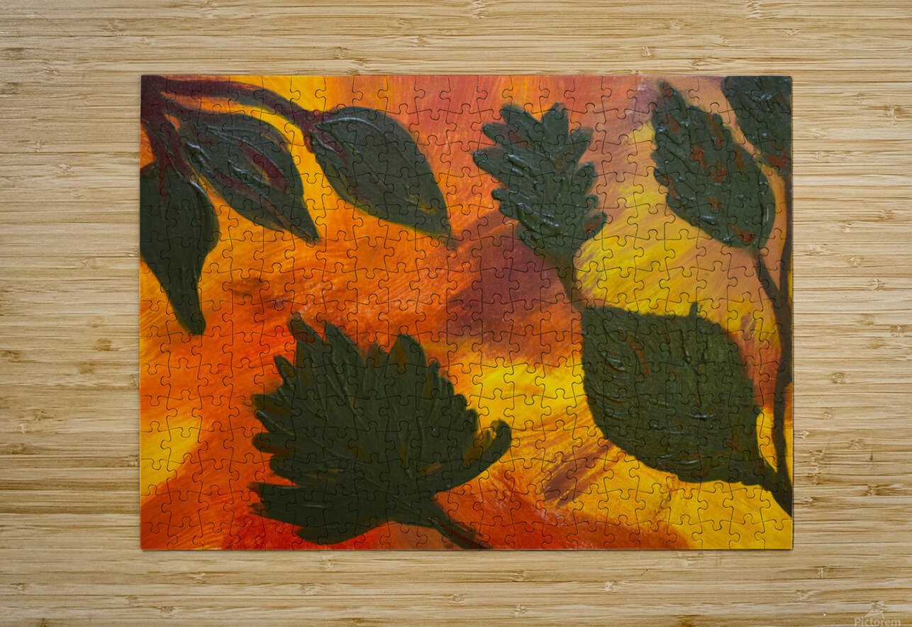 Fall Leaves. Jessica B  HD Metal print with Floating Frame on Back