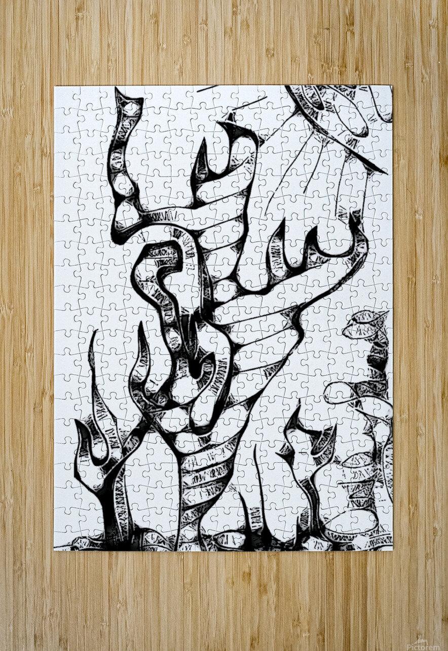 Cactus Sunrise Cartoon Sketch  HD Metal print with Floating Frame on Back