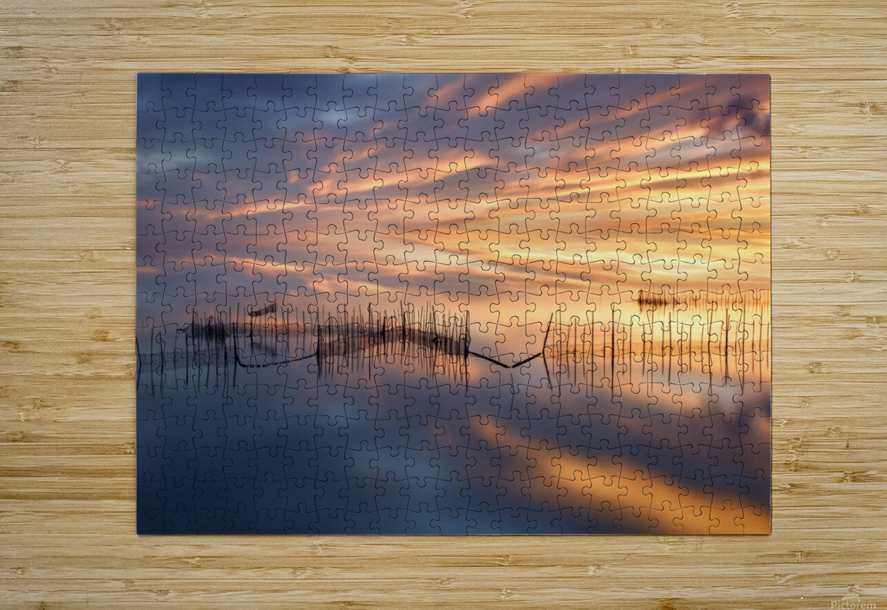 Fishnets  HD Metal print with Floating Frame on Back