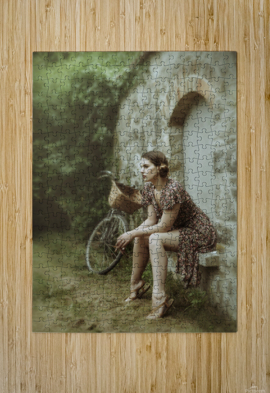 The wall game  HD Metal print with Floating Frame on Back